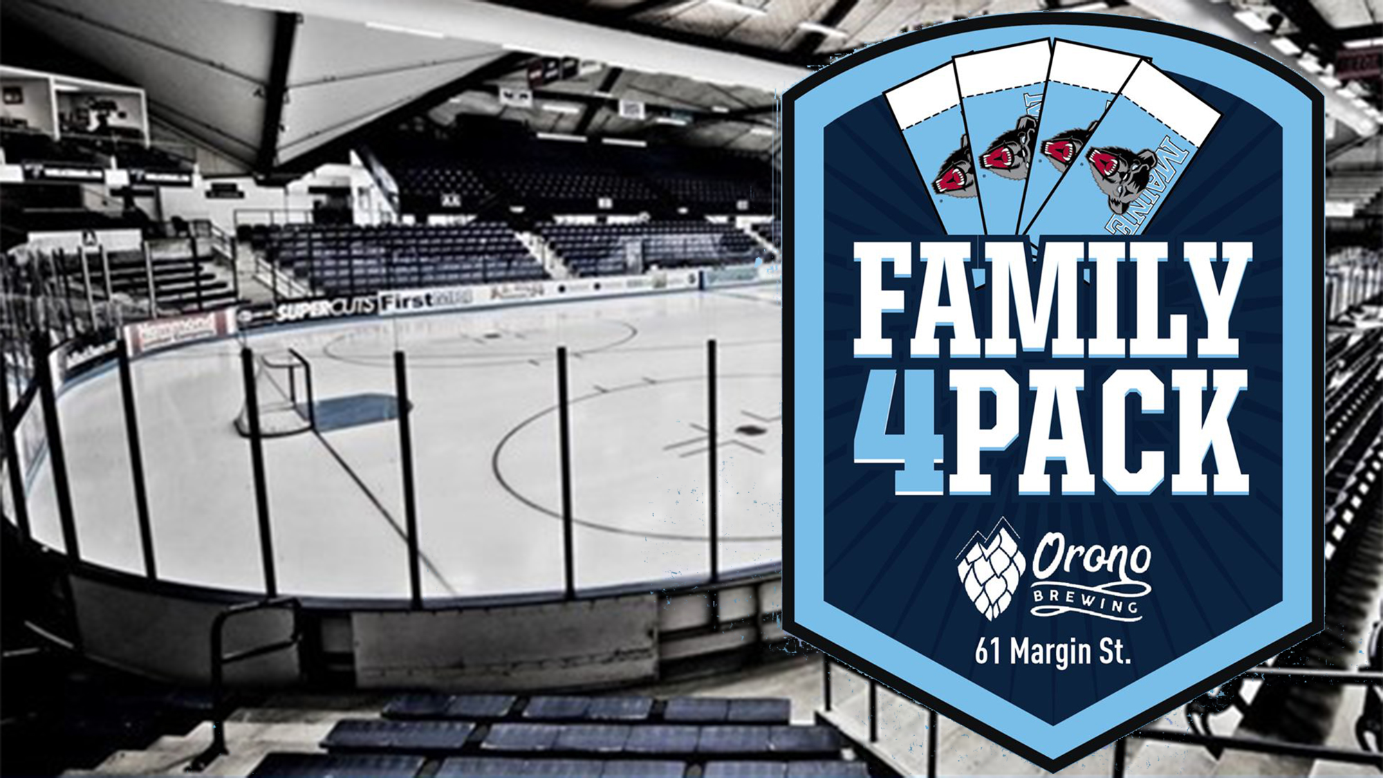 UMaine Athletics, Orono Brewing Company 'Family 4-Pack' Ticket Deal