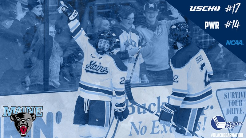 Men's Hockey Ranked 17th in USCHO Poll and 14th in Pairwise Ratings - University of Maine Athletics