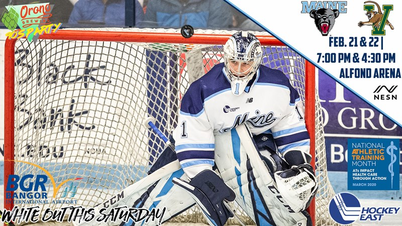 #17 Men's Hockey Ready to Host Vermont in Hockey East Showdown - University of Maine Athletics